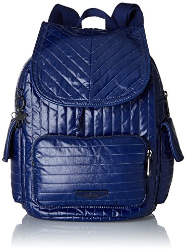 Kipling Damen CITY PACK S Rucksack, Blau (Shiny Blue), 27x33.5x19 cm