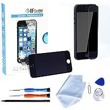 Ifixer iPhone 5s Pantalla LCD Cristal Vidrio Templado Digitalizador-profesional de reparación incluye kit herramientas y manual de instrucciones color Negro