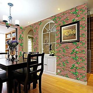 iHENGH 3D Brick Stone Rustic Effect Self-adhesive Wall Sticker Home Decor