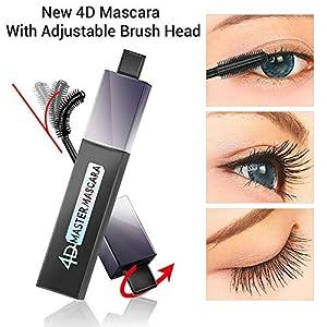 Máscara de pestañas 360 Max Curve con fórmula seda 4D, color negro, resistente al agua, para pestañas extra largas…