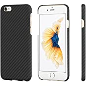 iPhone 6 / iPhone 6s Hülle PITAKA Schutzhülle aus Aramid (Kugelsicheres Material) Dünne Hochwertige Schutzhülle mit Schutzfolie, Schwarz/Grau (4,7 Zoll)