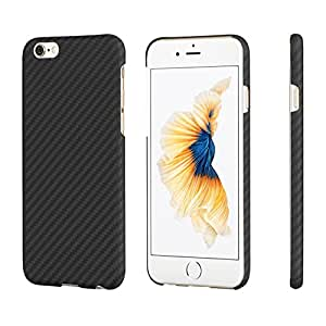 iPhone 6 Plus/ iPhone 6s Plus Hülle PITAKA Schutzhülle aus Aramid (Kugelsicheres Material) Dünne Hochwertige Schutzhülle mit Schutzfolie, Schwarz/Grau (5,5 Zoll)