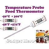 Gadget Hero's Pen Type Digital Food Probe Meat Thermometer Sensor BBQ Kitchen Cooking Tool. White.