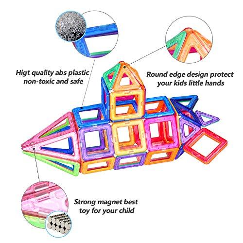 Bloques de Construcción Magnéticos 94 Piezas Juguete Construcción  LeeHur Juguetes Creativos y Educativos  Mejor Regalo para Niños Mayores de 3 años Aprenda El Color y La Forma