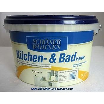 sch ner wohnen farbe k chen badfarbe cream 2 l cream. Black Bedroom Furniture Sets. Home Design Ideas
