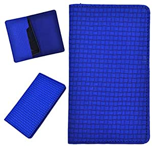 DCR Pu Leather case cover for LG L FINO(D295) (blue)