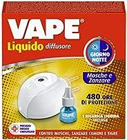 Vape Diffusore Elettrico Liquido Giorno/Notte per Mosche e Zanzare, Durata 480 Ore