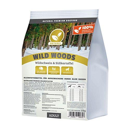 Hundeland Natural | Wild Woods | 3 kg | Wildschwein + Kartoffel...