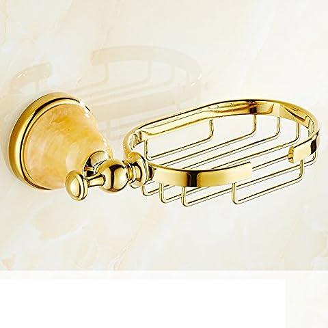 Marmo Portasapone/rete sapone rame dorato completa/soap box Bathroom-D
