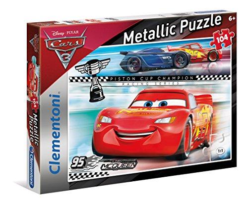 Clementoni 27074 - metallic puzzle cars 3, 104 pezzi