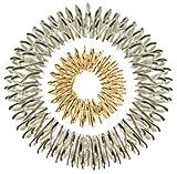 Akupressur-Set aus Massage-Ring (gold groß) und -Armband (silber)
