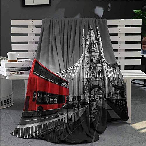 Nat Abra Gray Soft Plush Blanket Landschaft Von London City Super Plush Blanket