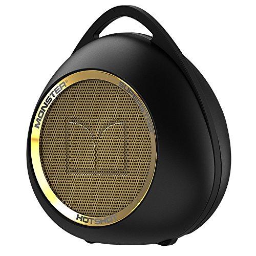 Monster Superstar Hotshot Estéreo Cilindro Negro, Oro - Altavoces portátiles (1.0 Channels,...