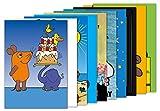 10er-Set: Postkarten A6 +++ MIX SET Nr. 1 von modern times +++ 10 KINDERGEBURTSTAG-Motive +++