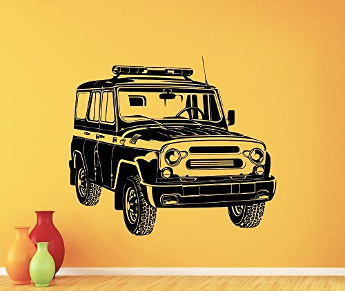 jiuyaomai Styling Kunst Russische Auto Uaz Wandtattoo Garage Vinyl Aufkleber Kunst Dekor Wandhaupt Wohnzimmer Aufkleber Auto Aufkleber Abnehmbare 42x48 cm - Adler-raum-dekor