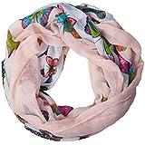 ManuMar Loop-Schal für Damen | feines Hals-Tuch mit Schmetterling-Motiv als perfektes Sommer-Accessoire | Schlauch-Schal - Das ideale Geschenk für Frauen