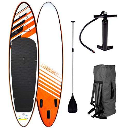"SUP Board Stand up Paddling Surfboard\""Relax\"" 320x76x15cm aufblasbar Double-Layer Alu-Paddel Hochdruck-Pumpe Transportrucksack 130KG Tragkraft"