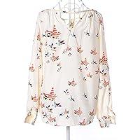 Multi Color Chiffon V Neck Shirts For Women