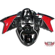 VITCIK (Kit de Carenado para Honda CBR1100XX F5 1996 - 2007 CBR1100 XX F5 96 - 07) Accesorios de repuesto para bastidor y carrocería con completo para motocicleta y moldeo por inyección en ABS(Negro & Rojo) A013