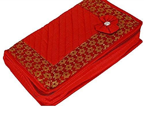 Kuber Industrie Design portagioie in materiale pesante trapuntato (Rosso)