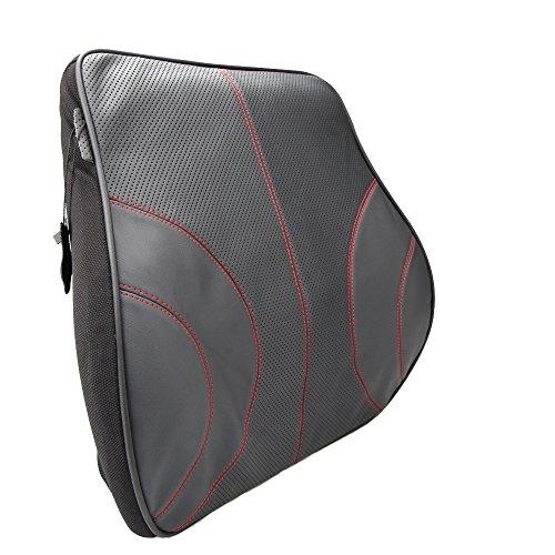 Koyoso Orthopädisches Rücken-Kissen Lordosenstütze Lendenkissen für Auto Schwarz (Kissen Lordosenstütze)
