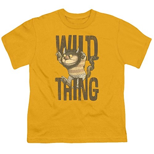 Where The Wild Things Are - Wo die Wilden Kerle sind - Jugend-wildes Sache-T-Shirt, X-Large, Gold