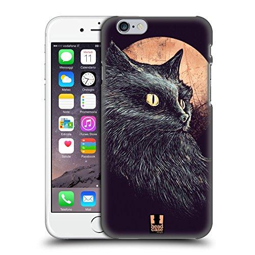 Head Case Designs Albero Gatto E Luna Cover Retro Rigida per Apple iPhone 7 Plus / 8 Plus Luna Arancione