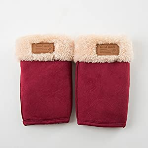 Unbekannt XIAOYAN Handschuhe Frauen-Reine Farben-Fingerspitzen-Handgelenk-Längen-Nette Winter-Handschuhe für 20-49 Jährige Bequem