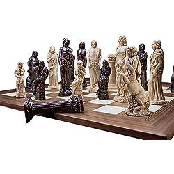 Toscano Dioses de mitología Griega ajedrez con Piezas de ajedrez y Tabla