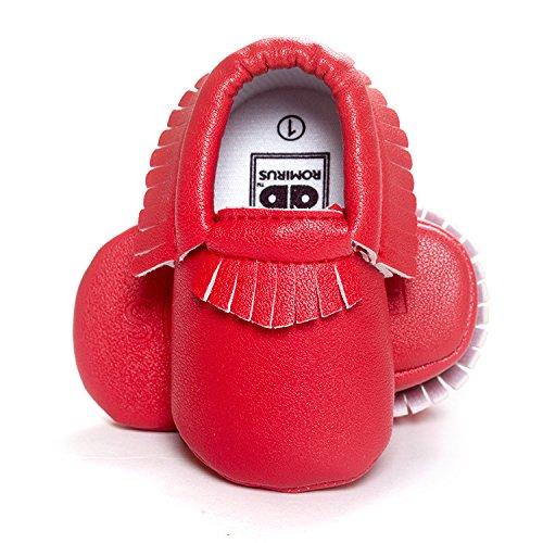 Lemandy , Chaussures premiers pas pour bébé (fille) argent 12 cm rouge