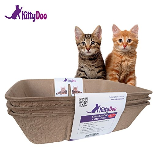KittyDoo - 3 STK. Bio Katzen Toilette, Kompostierbar, Hygienisch, Geruchsarm (3 Pack) -
