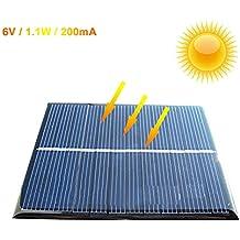 Zimo Panel solar de Módulo Polycrystalline 6V 1.1W Cargador DIY Tamaño Mini