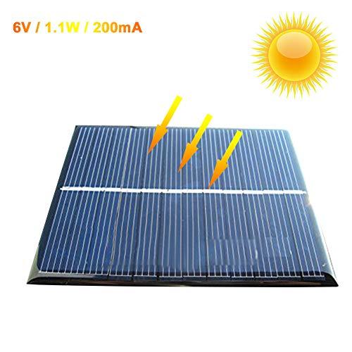 Zimo Panel solar Módulo Polycrystalline 6V 1.1W Cargador
