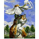 Waofe Rain Rain Go Away Hand Made Peinture De Haute Qualité Toile Belle Peinture Par...
