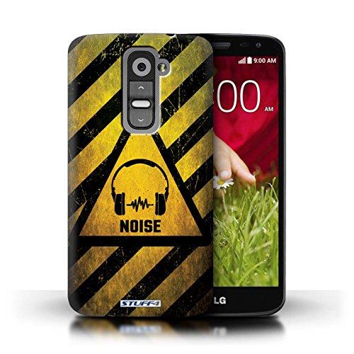 Kobalt® Imprimé Etui / Coque pour LG G2 Mini/D620 / Feu/Inflammable conception / Série Signes de Danger Bruit/Musique