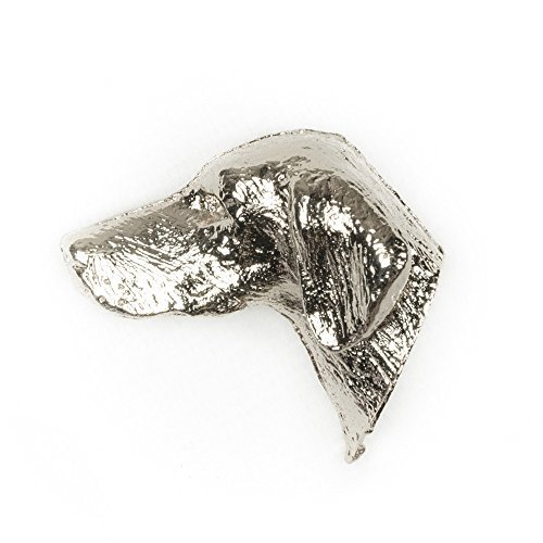 HUNGARIAN VIZSLA Made in U.K Artistic Style Dog Clutch Lapel Pin Collection by DOG ARTS JP -