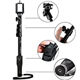 #5: Decors Eye™ YT-1288 Bluetooth Remote Selfie Stick for Smartphones, Action Camera and Digital Camera Selfie Stick With Remote (Black)