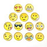 Union Tesco Magnete Smiley, Emoji, 13 Stück im Set, Kühlschrankmagnete, witzige gute Laune Magnete
