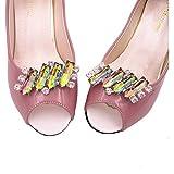 Santfe Fibbie con strass colorati, per scarpe, con clip, accessori di decorazione per matrimonio