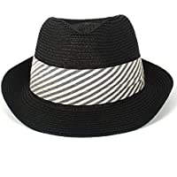 JINXIUHATS Sombrero y Gorra Sombrero de Sol para Mujer Summer Straw Beach  Trilby Gangste Sombrero de 08faf882d66