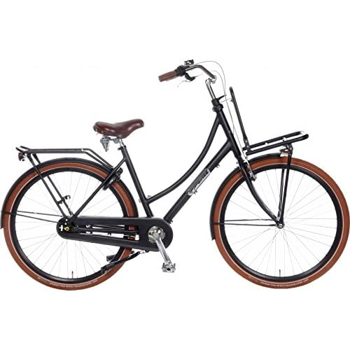 51WENR%2BkCDL. SS500  - POPAL Daily Dutch Prestige 28 Inch 57 cm Woman 7SP Coaster Brake Matte black