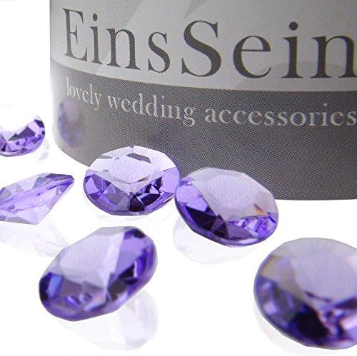 100x FUNKELNDE Diamantkristalle 12mm flieder EinsSein® Dekoration Dekosteine Diamanten FUNKELNDE Diamantkristalle Streudeko Konfetti Tischdeko Hochzeit (12mm Diamant-konfetti)