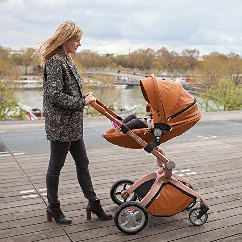 Hot Mom Poussette combinée 2017 Fashion ,Brun …