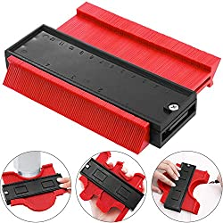 Plastic Profile Contour Gauge Duplicator for Wood Marking Tool and Tiling Laminate Tiles General Tools 4.7 Inch/120 Mm Red