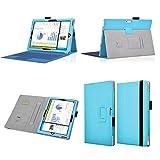 Premium étui en cuir avec support prise manuelle intégré (support clavier) Pour Microsoft Surface PRO 3 - Bleu