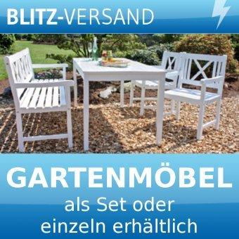 GARTENSET - PETRA | Gartenmöbel aus Akazien-Holz in weiß