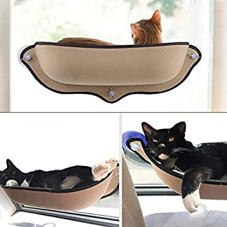 Cat Window Mounted Bed Sunshine Seat Pets Hammock Conservatory Perch Cushion Can Withstand 68.6*28cm 51WEQkbHx4L