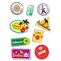 Supertogether Set of 9 Full-Colour World Travel Locations Suitcase Stickers - Cool Vinyl Decals also suitable for Laptops Travel Luggage Bags Car Panels VW Camper Vans and even Bedroom Walls