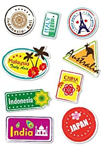 Supertogether Set Of 9 Full Colour World Travel Locations