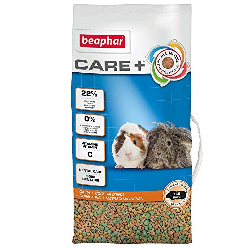 beaphar Care+ Meerschweinchen | Meerschweinchenfutter mit lebenswichtigem Vitamin C | Fördert den gesunden Zahn-Abrieb | Mit Omega 3 und 6 | 5 kg Beutel